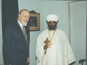 Με τον Πατριάρχη Αιθιοπίας