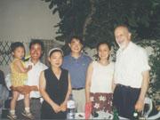 Ο Θεοδόσης Τάσιος με τους Κινέζους διδακτορικούς φοιτητές του